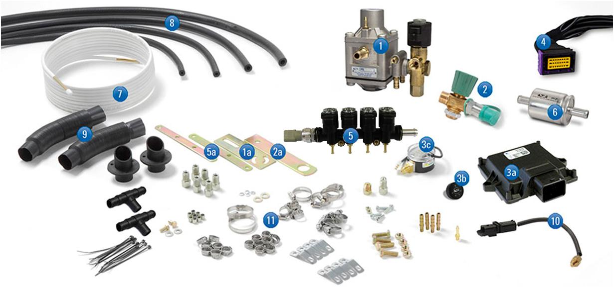 kit componentes 5ta gnc